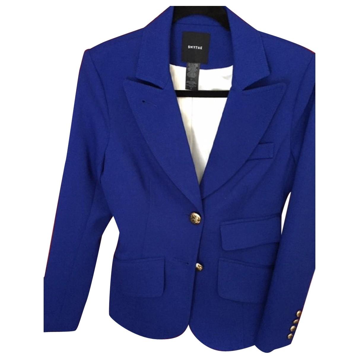 Smythe - Veste   pour femme en laine - bleu
