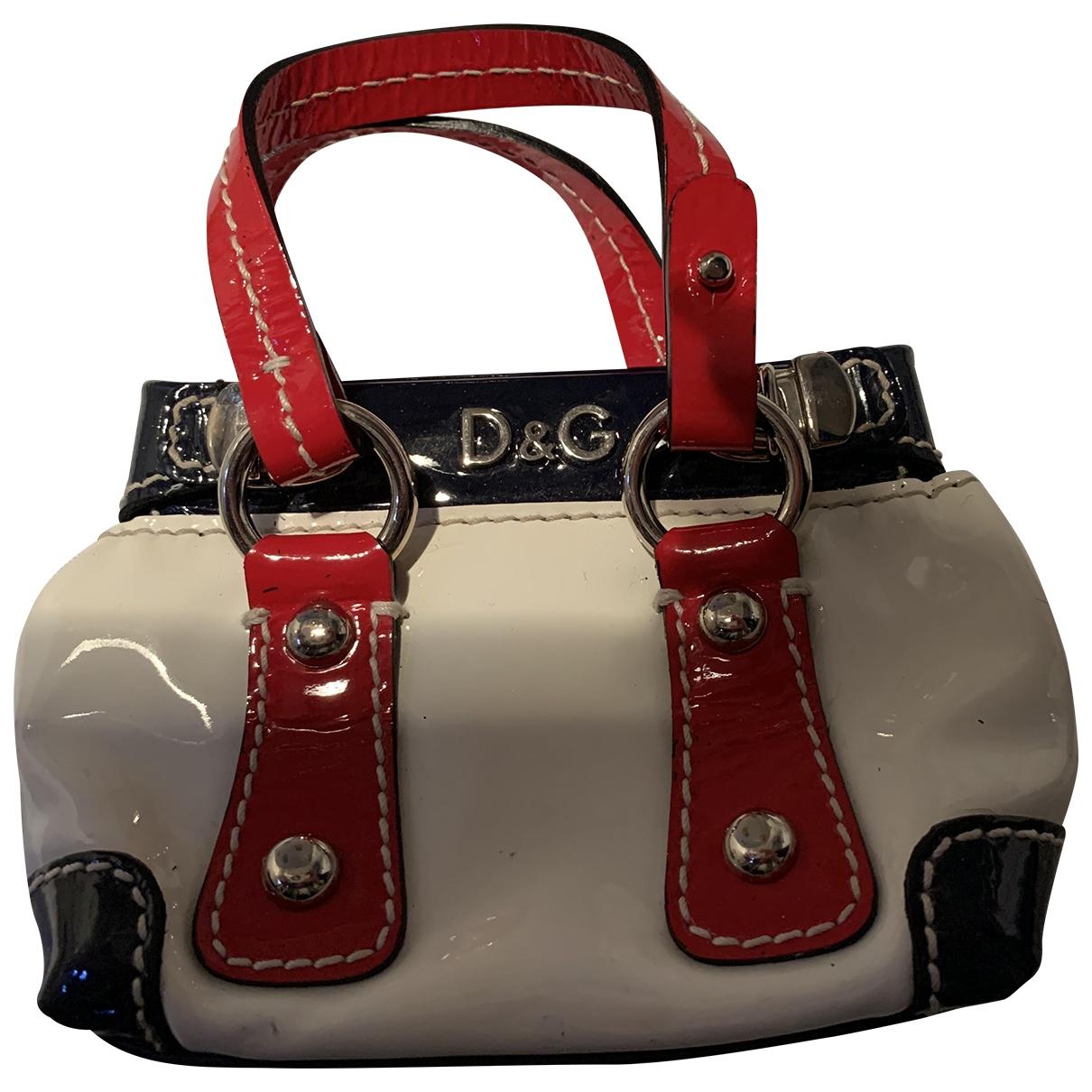 D&g \N Handtasche in  Weiss Lackleder