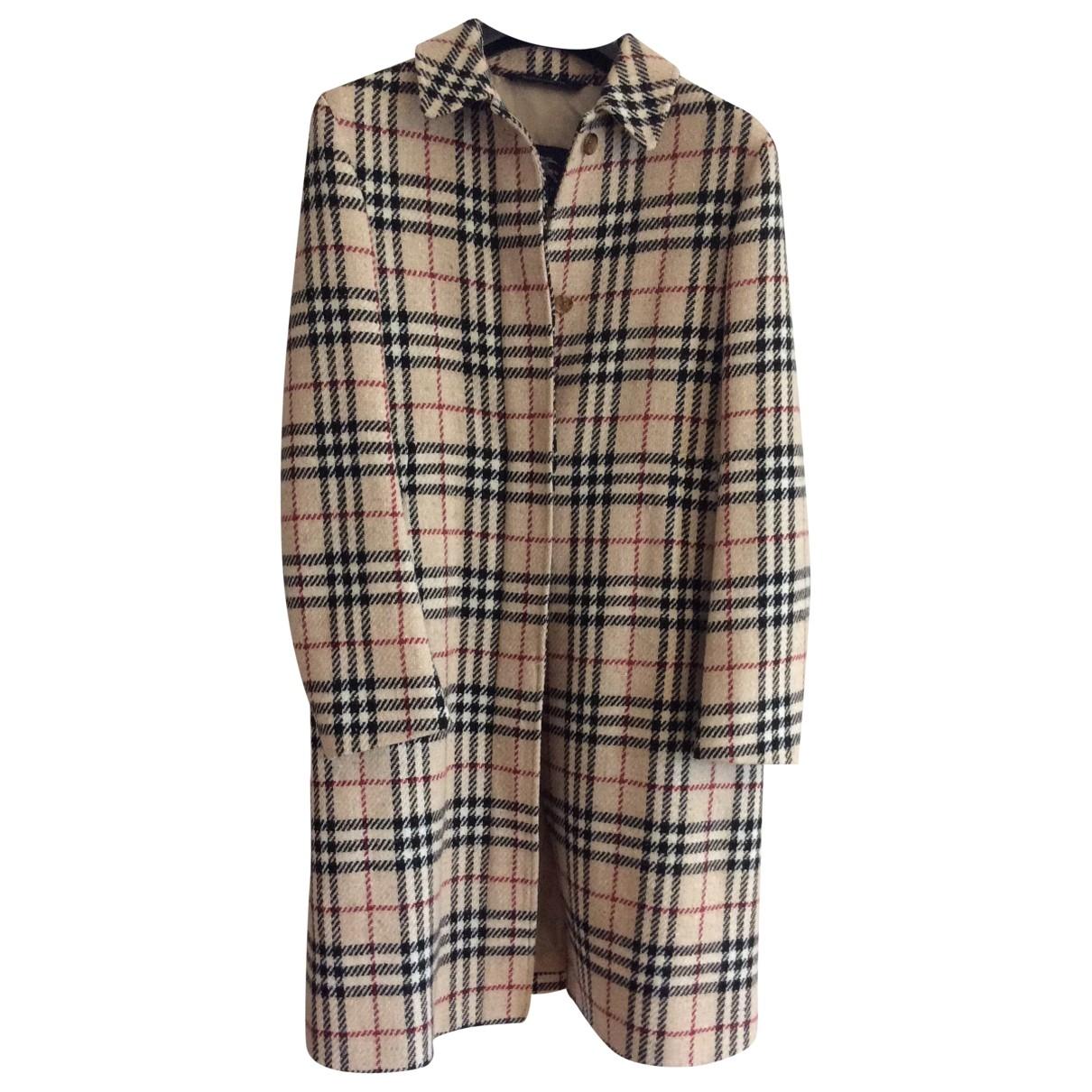 Burberry - Manteau   pour femme en laine - multicolore