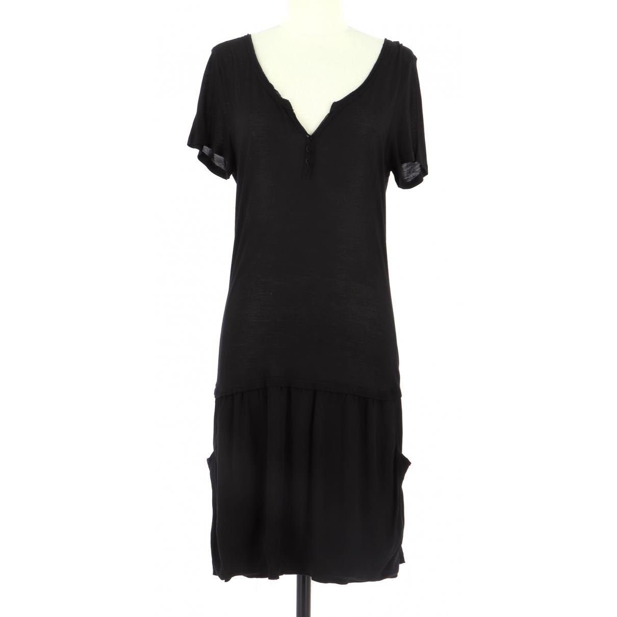 Berenice \N Kleid in  Schwarz Baumwolle