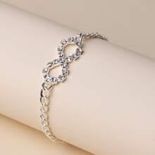Armband mit Strass und Infinity Dekor