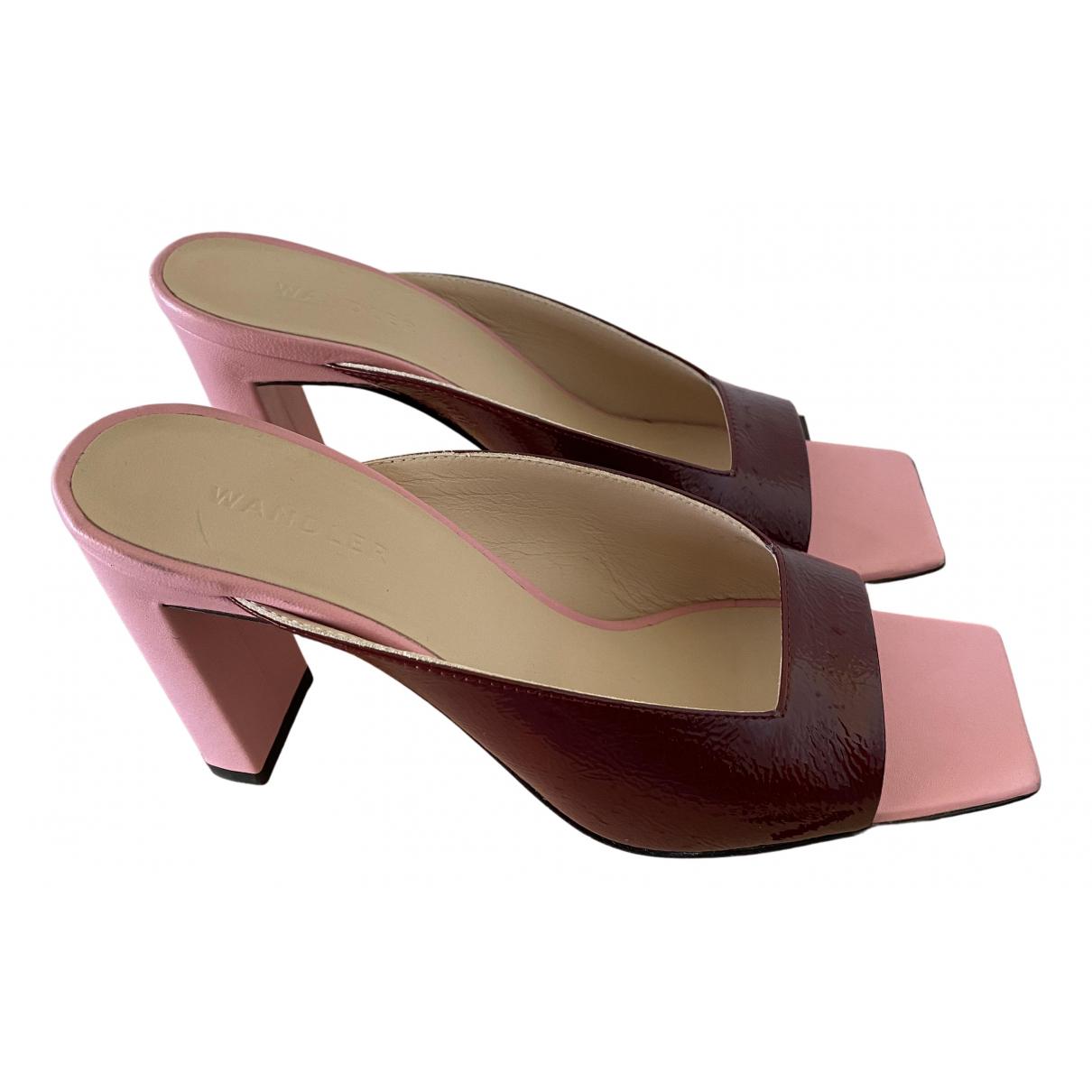 Wandler - Sandales   pour femme en cuir - multicolore