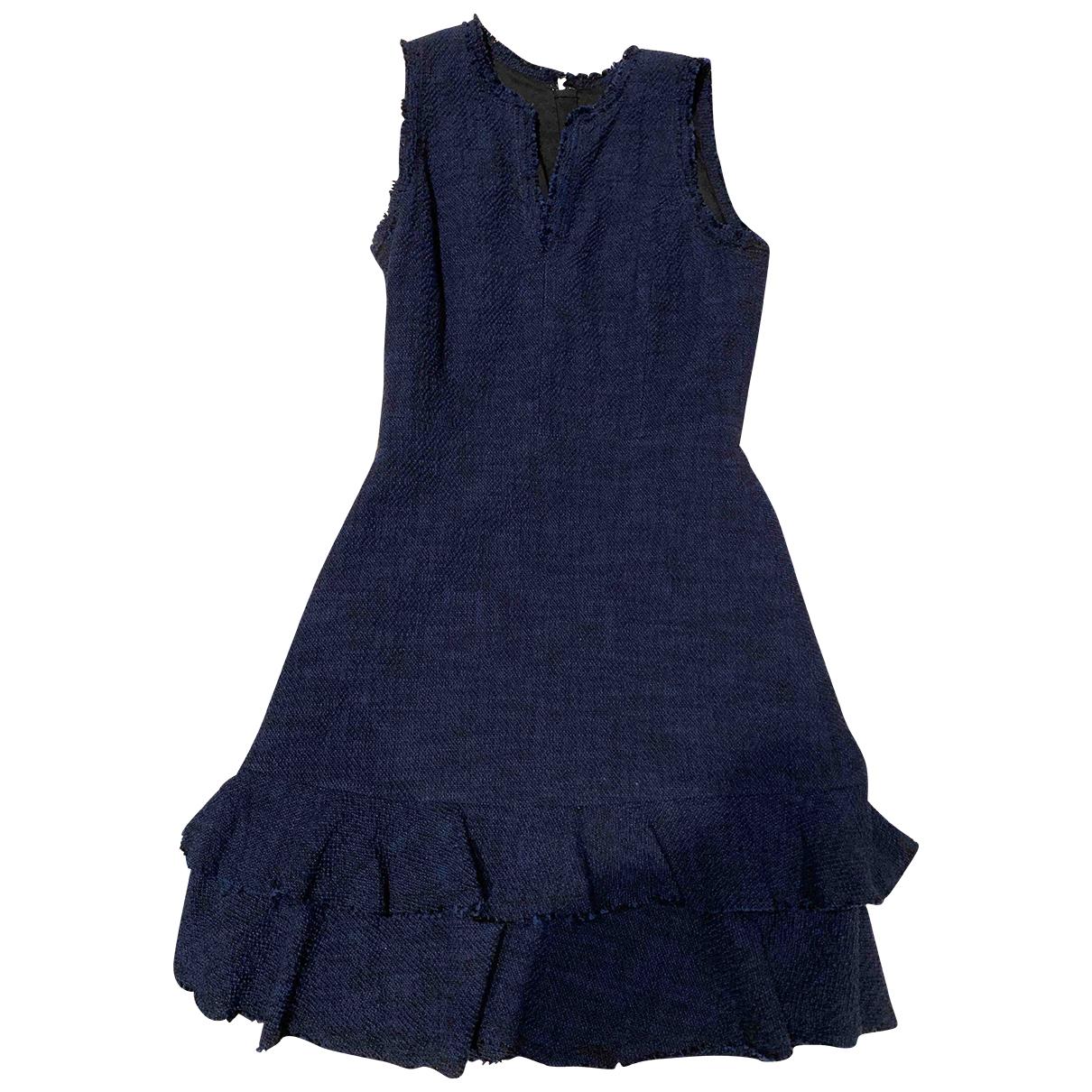 Rebecca Taylor \N Kleid in  Blau Tweed