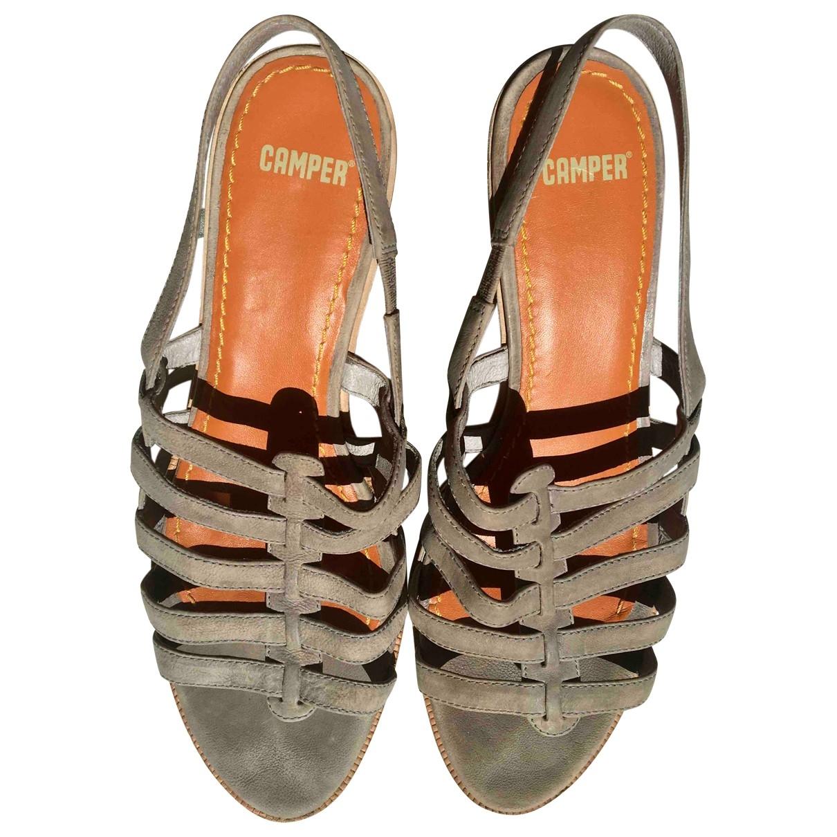 Camper \N Grey Suede Heels for Women 41 EU