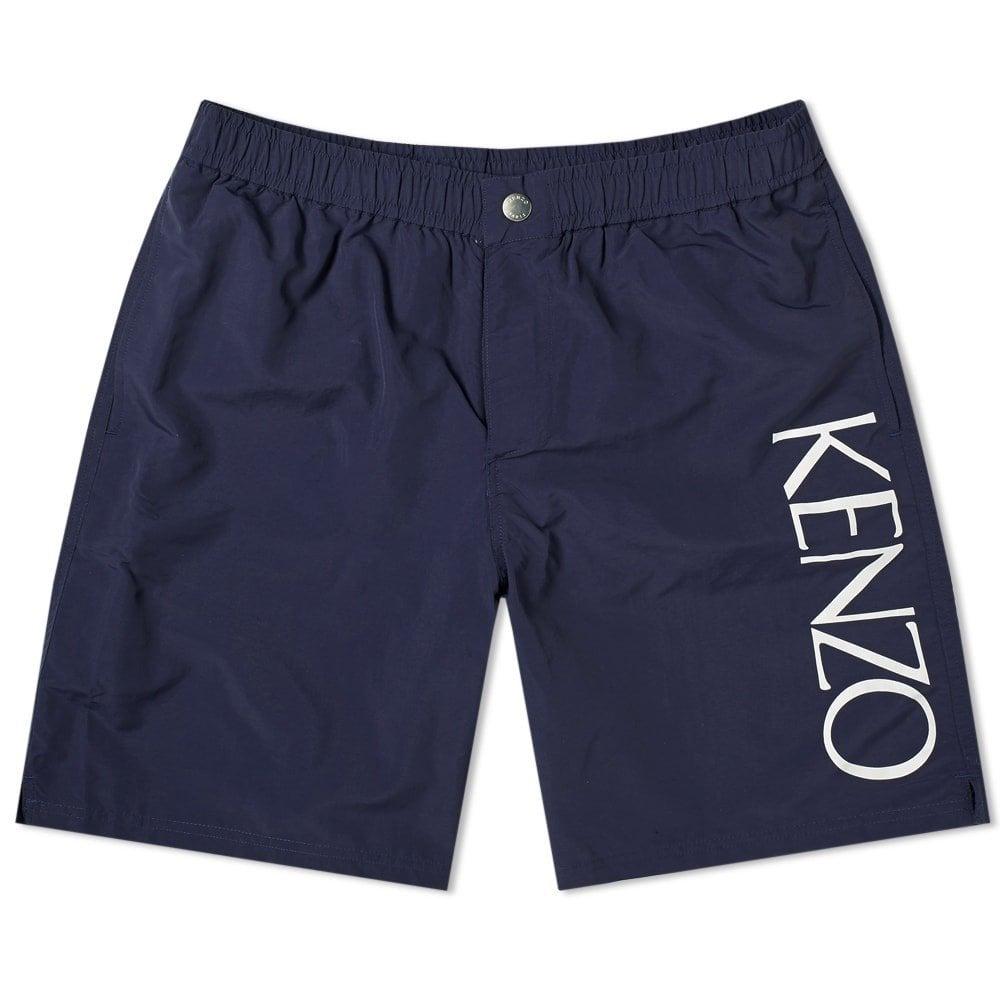 Kenzo Side Logo Swimshorts Colour: NAVY, Size: MEDIUM