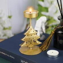 1 pieza soporte de vela con arbol de navidad