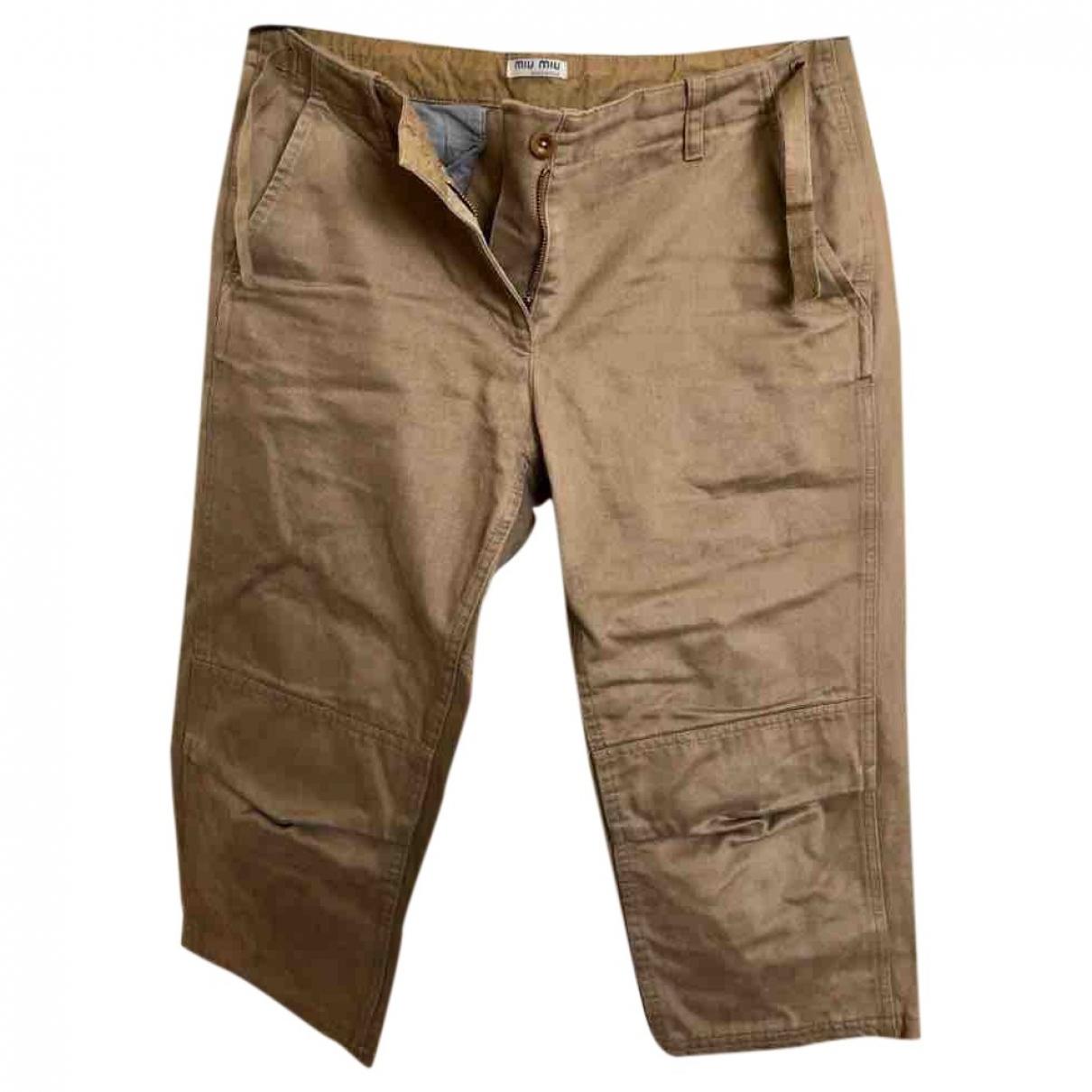 Miu Miu \N Beige Cotton Shorts for Women M International