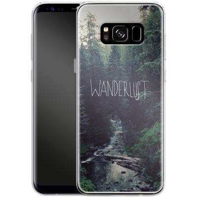 Samsung Galaxy S8 Silikon Handyhuelle - Wanderlust - Rainier Creek von Leah Flores