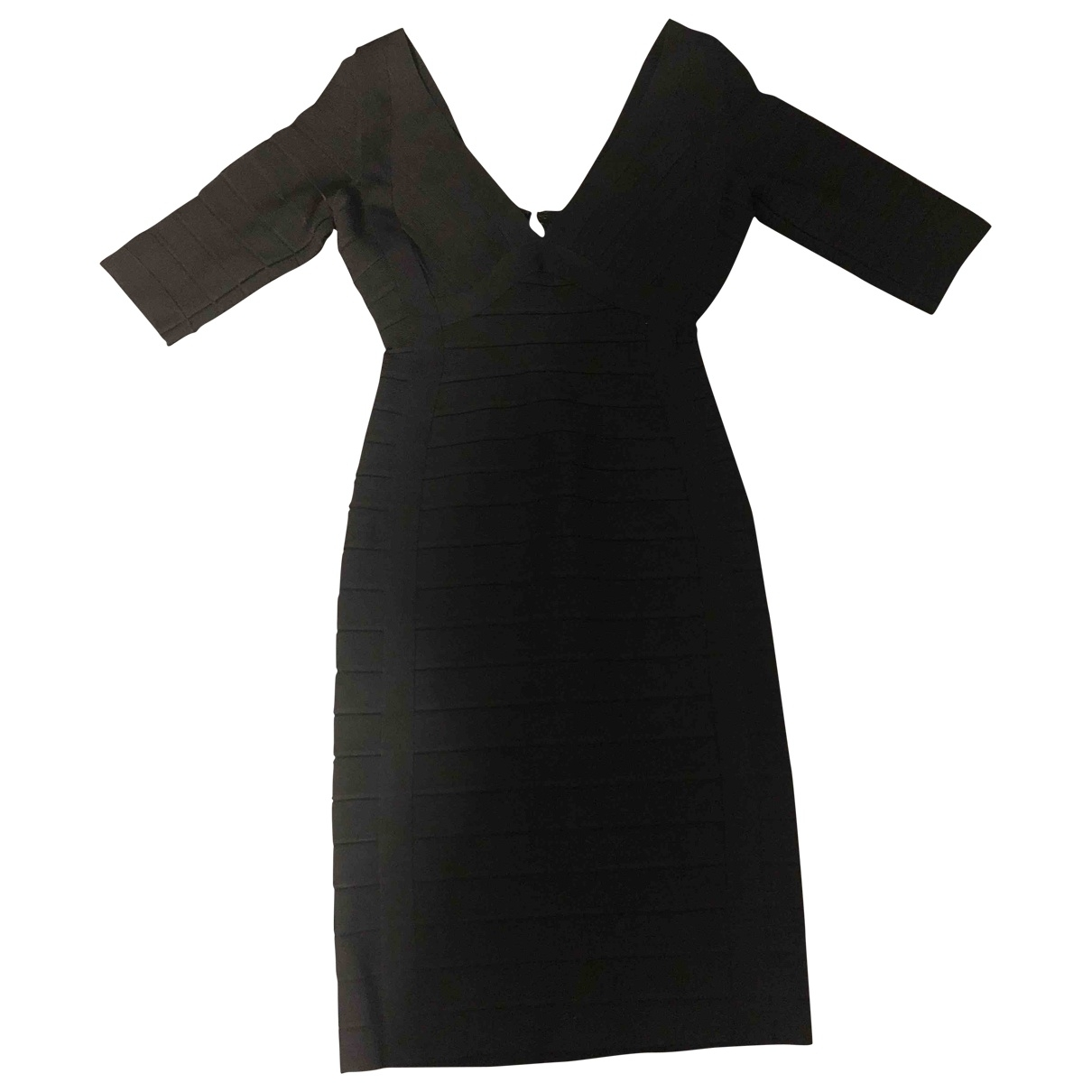 Herve Leger - Robe   pour femme en coton - elasthane - noir
