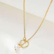 Halskette mit Herzen Dekor und Kunstperlen