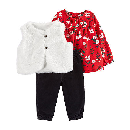 Carter's Baby Girls Pant Set, 18 Months , Red