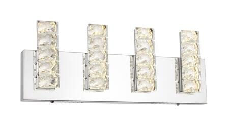 FT35W18CH LED Wall Sconce with Stainless Steel and Crystal Materials and 20 Watts in Chrome