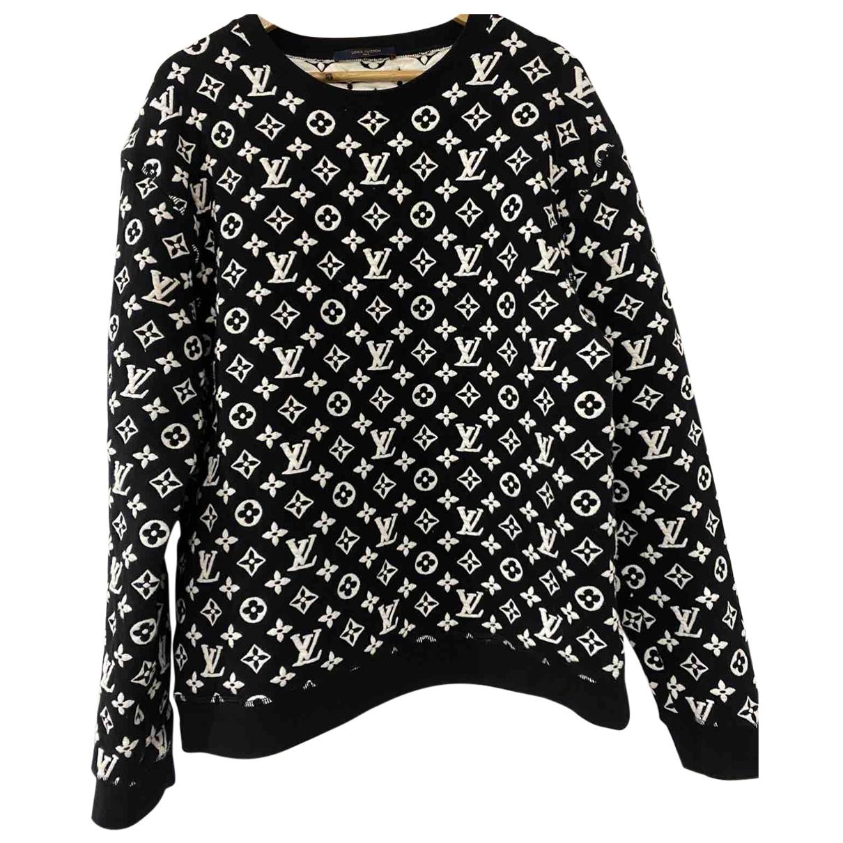Louis Vuitton \N Pullover.Westen.Sweatshirts  in  Schwarz Wolle