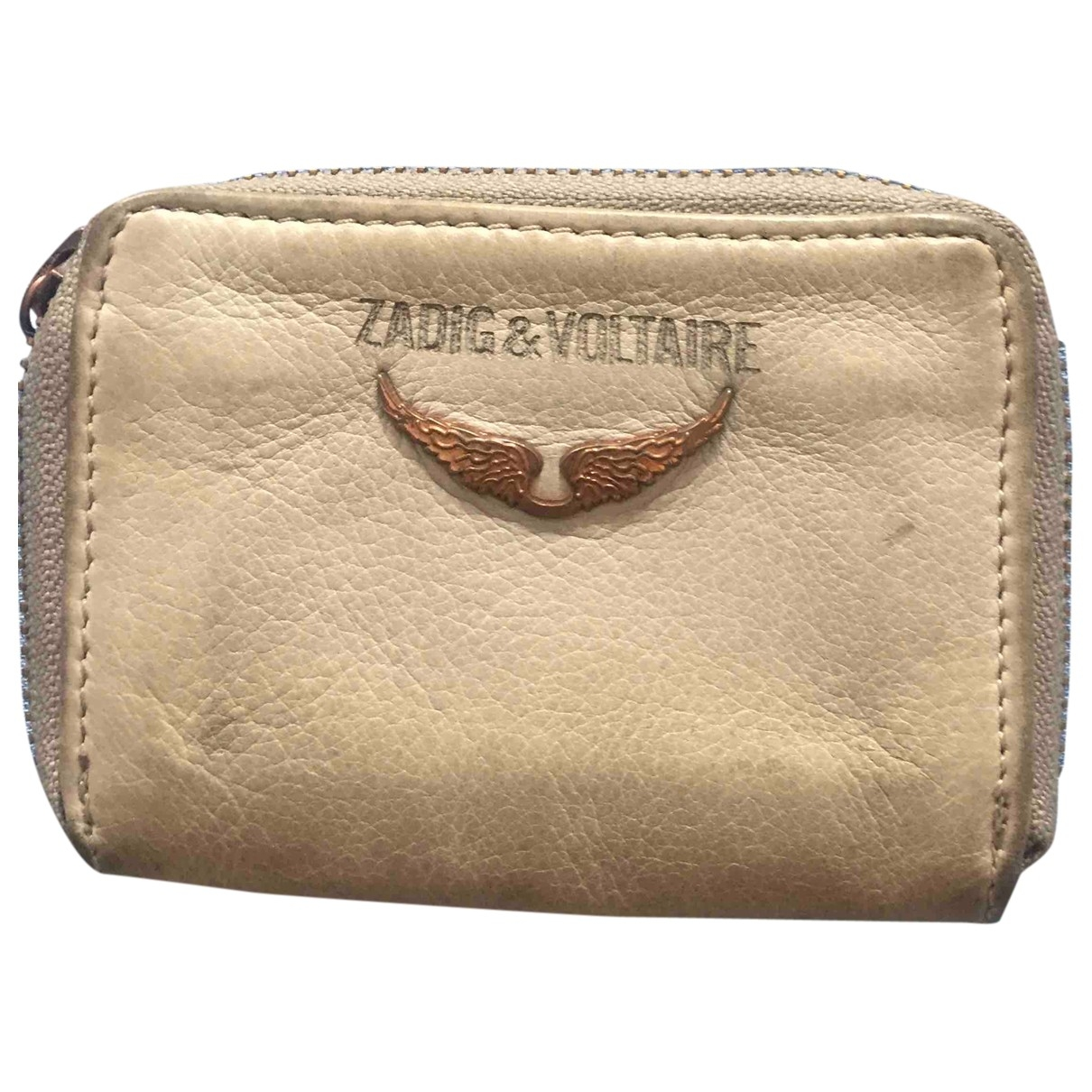 Zadig & Voltaire \N Beige Leather Purses, wallet & cases for Women \N