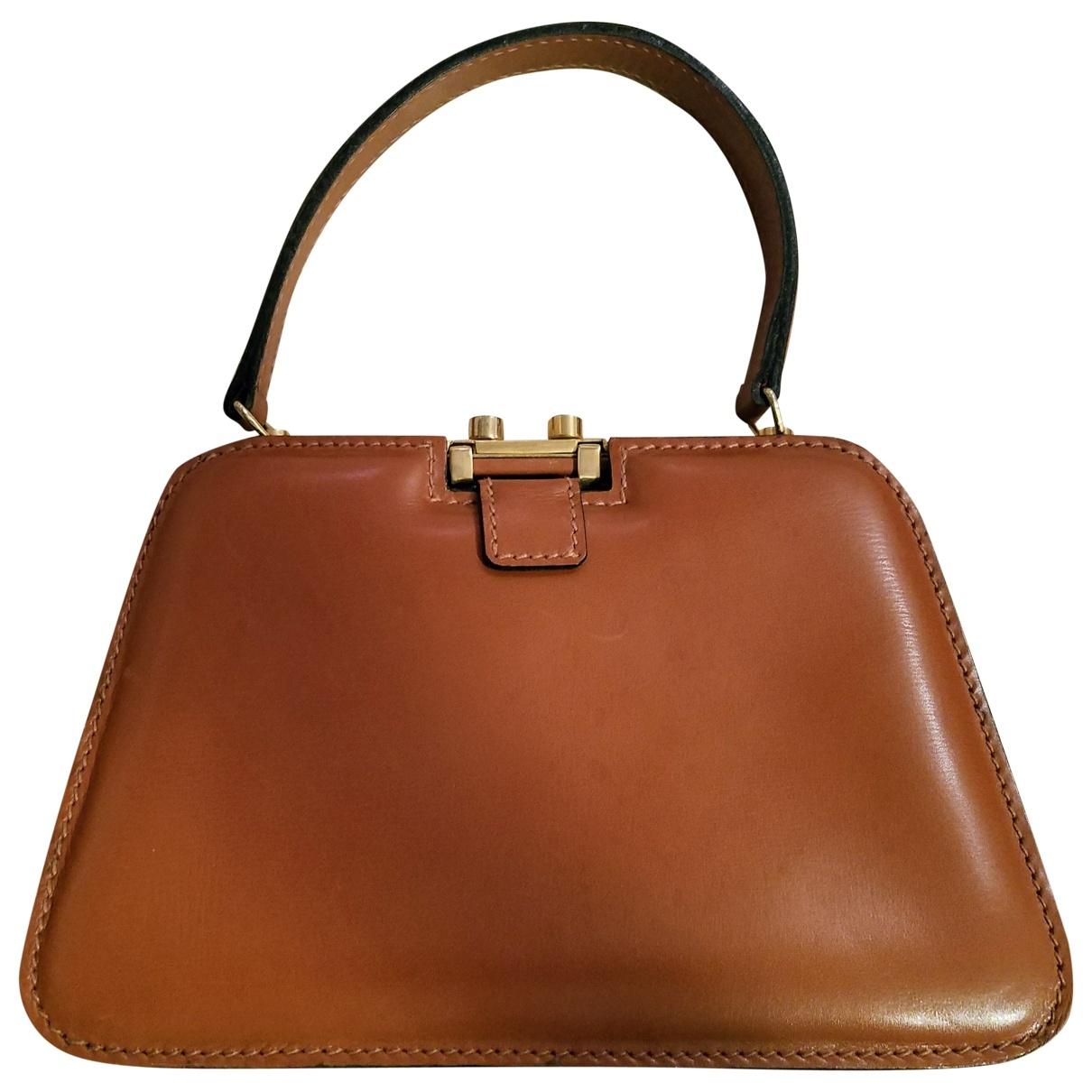 Delvaux Tempête Camel Leather handbag for Women \N