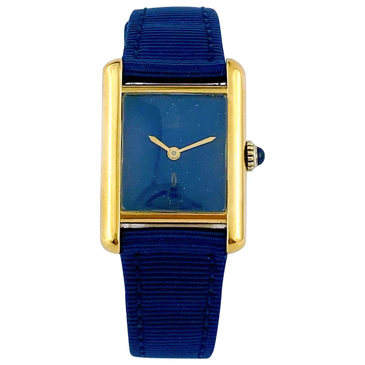 Cartier - Montre Tank Must pour femme en vermeil - bleu