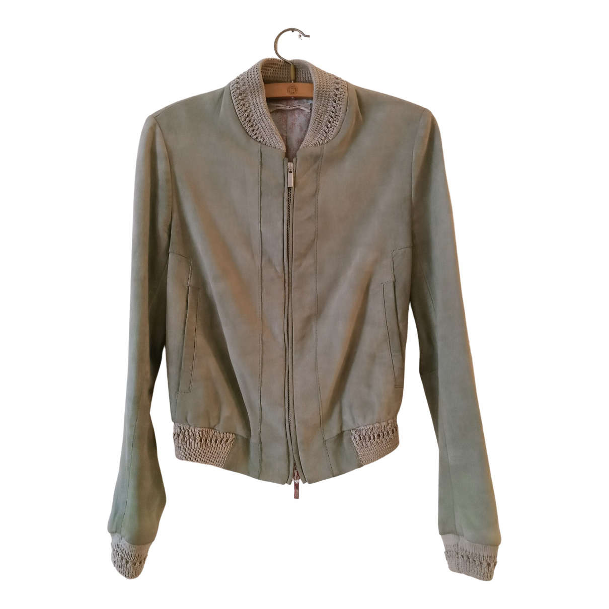 Non Signé / Unsigned N Leather Leather jacket for Women 40 IT