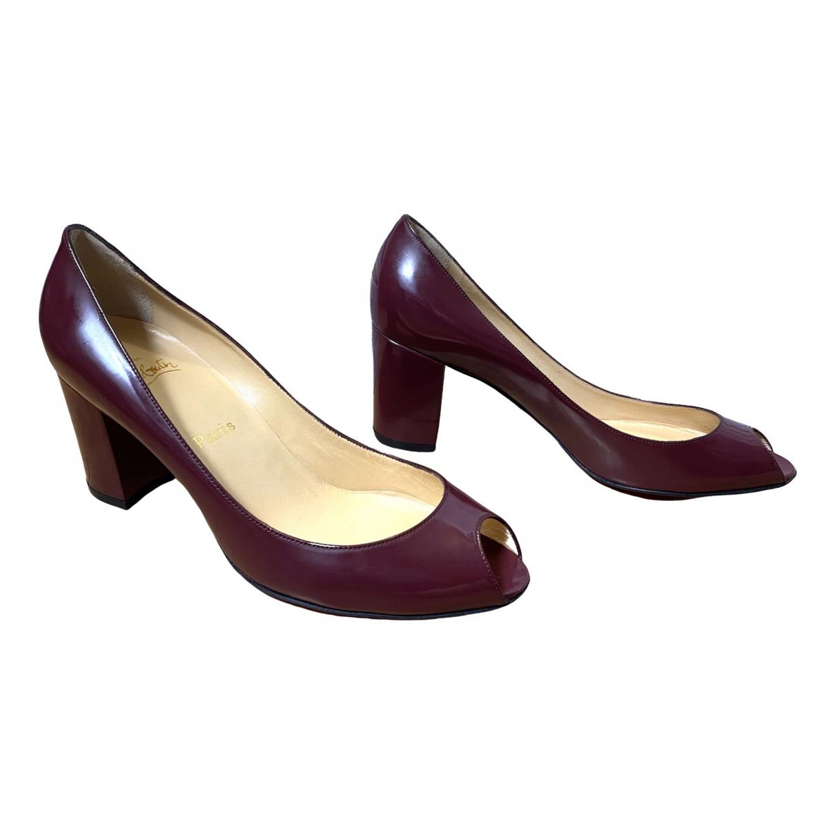 Christian Louboutin \N Burgundy Patent leather Heels for Women 40 EU