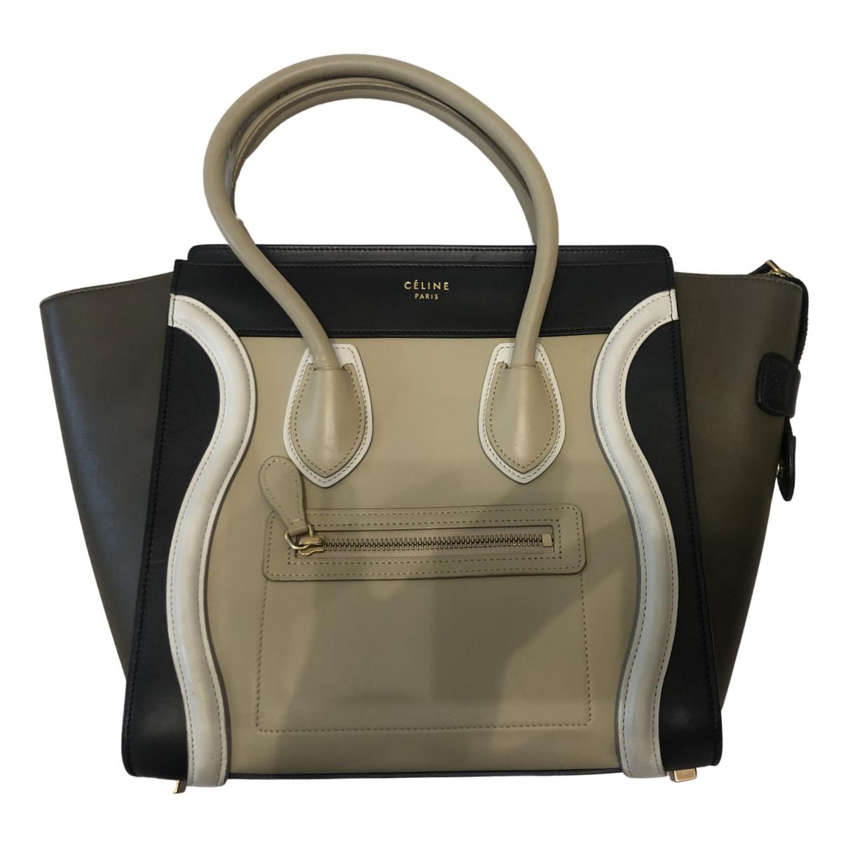 Celine - Sac a main Luggage pour femme en cuir - multicolore