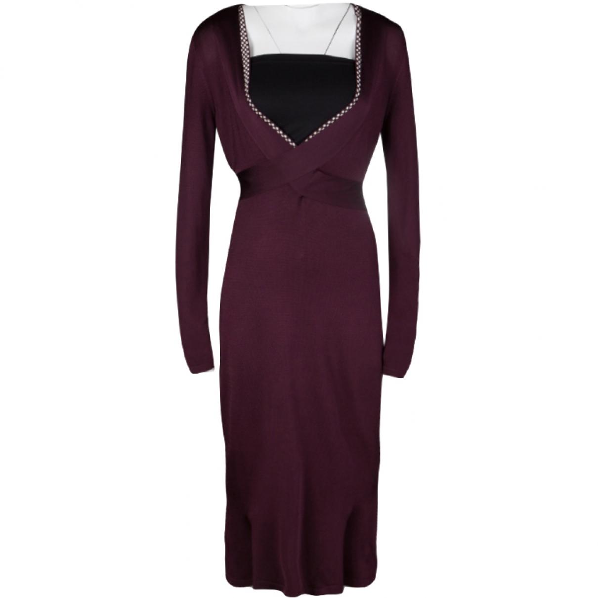 Alexander Mcqueen \N Burgundy dress for Women L International