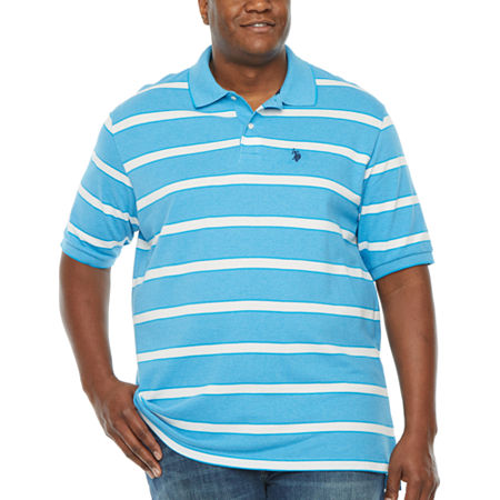 Us Polo Assn. Big and Tall Mens Short Sleeve Polo Shirt, 2x-large Tall , Blue