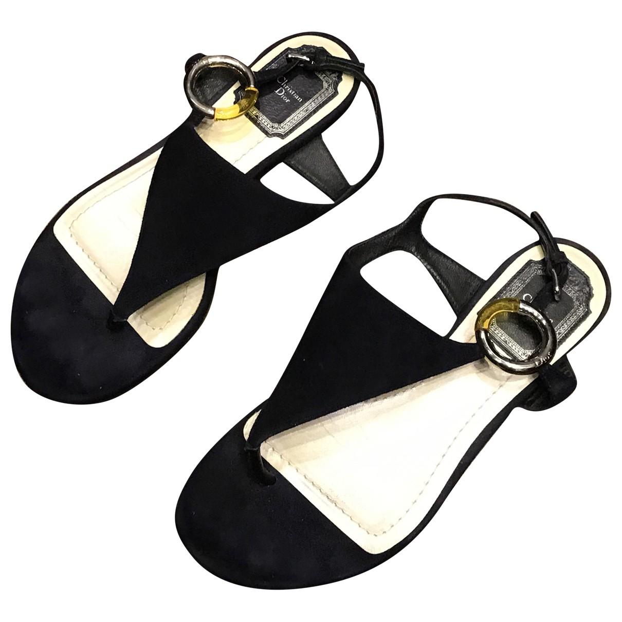 Dior \N Black Suede Sandals for Women 35 EU