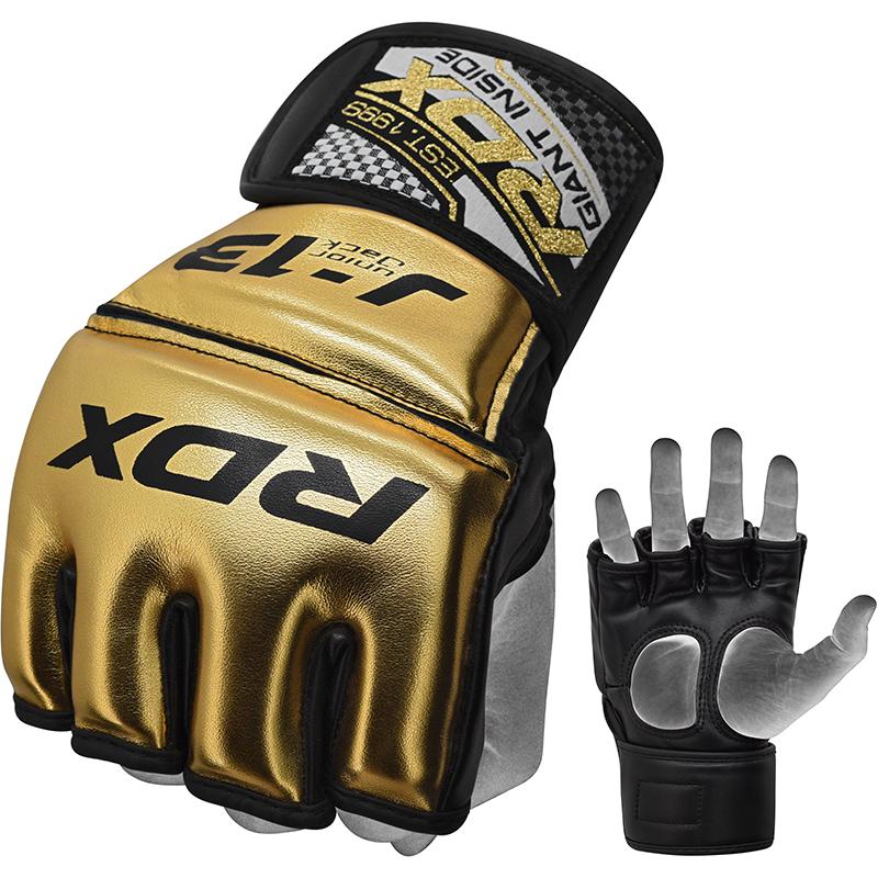 RDX J13 Guantes de Grappling MMA Junior S Dorado