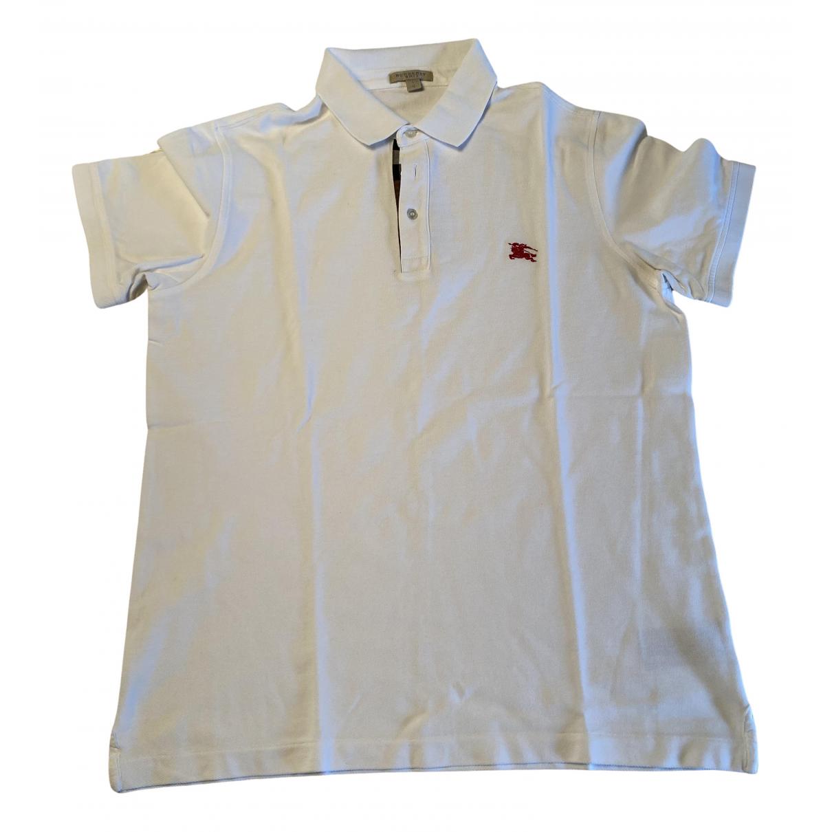 Polo en Algodon Blanco Burberry