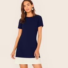Contrast Hem A-line Dress