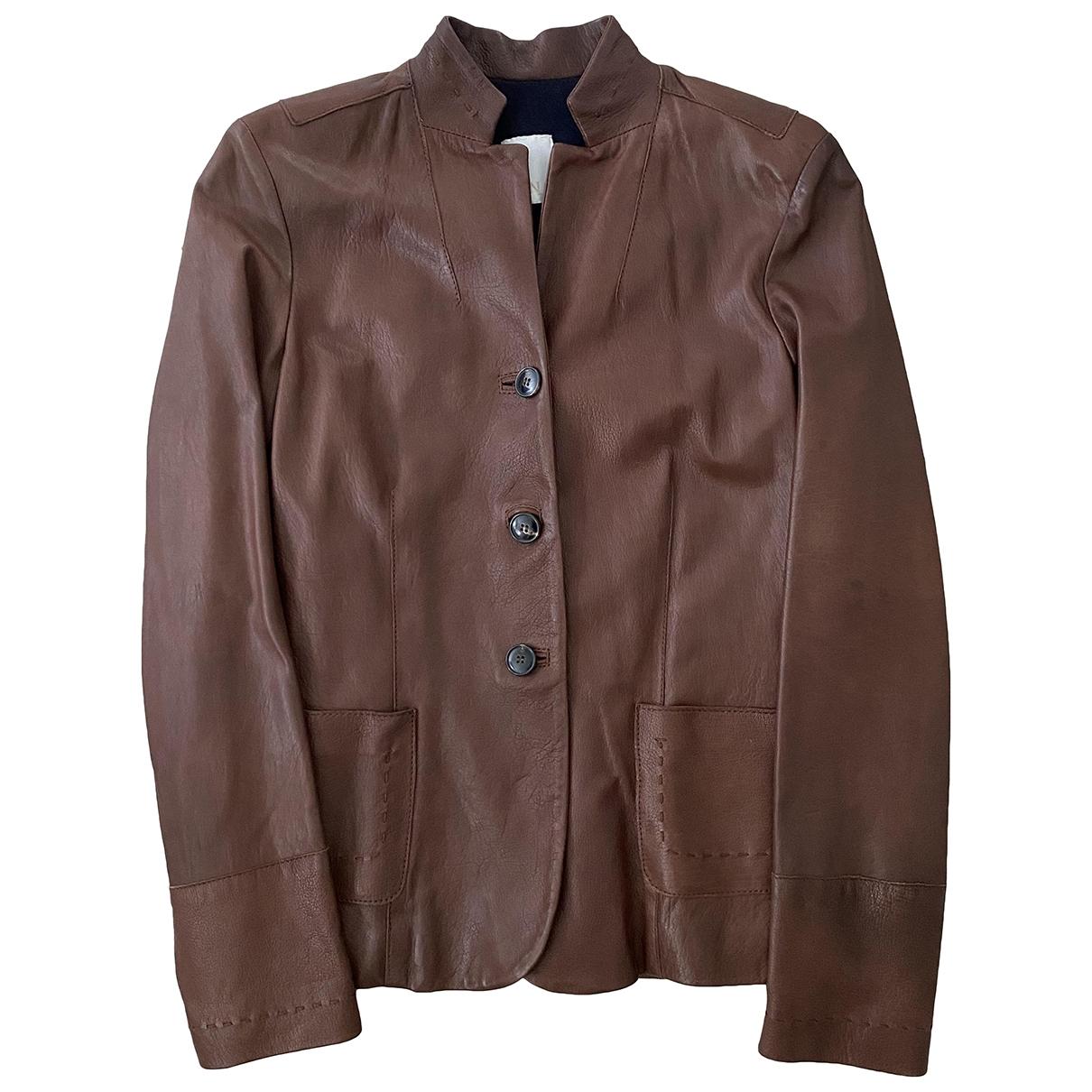 N8 \N Brown Leather jacket for Women S International