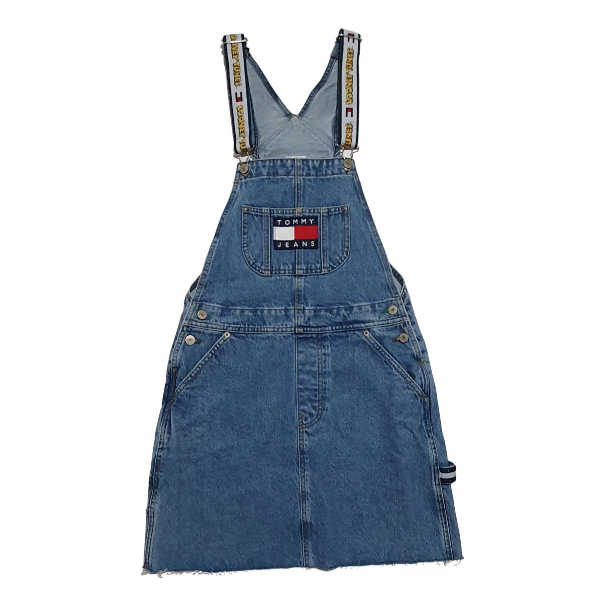 Tommy Jean - Robe   pour femme en coton - bleu
