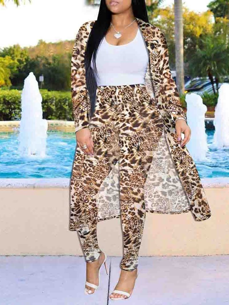 Ericdress Leopard Full Length Two Piece Sets