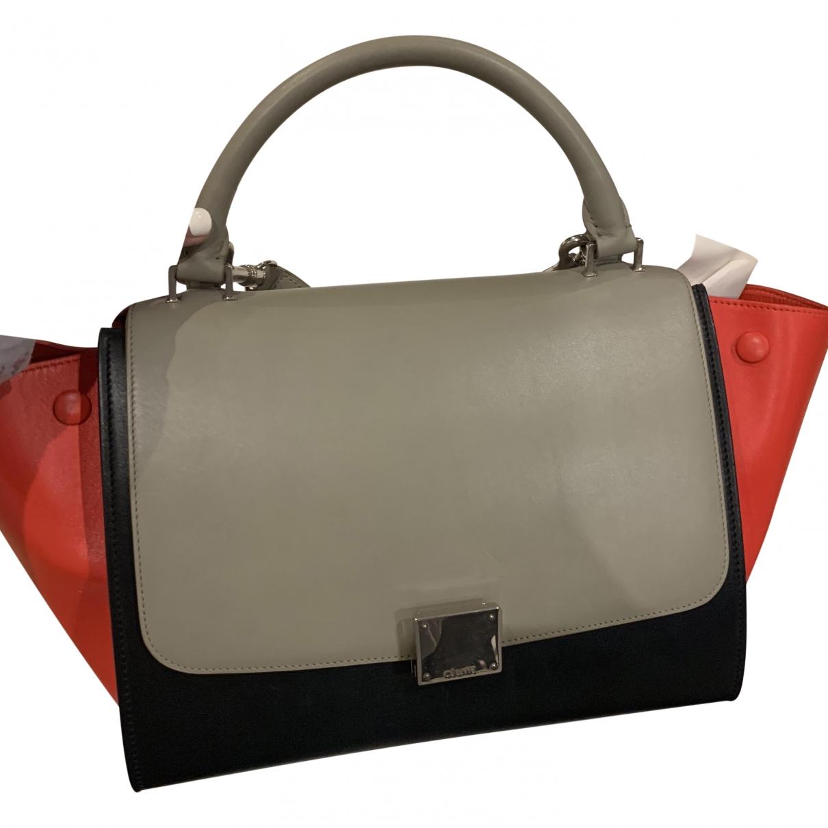 Celine Trapeze Handtasche in  Bunt Leder