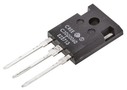 Wolfspeed 600V 20A, Dual SiC Schottky Diode, 3-Pin TO-247 C3D20060D
