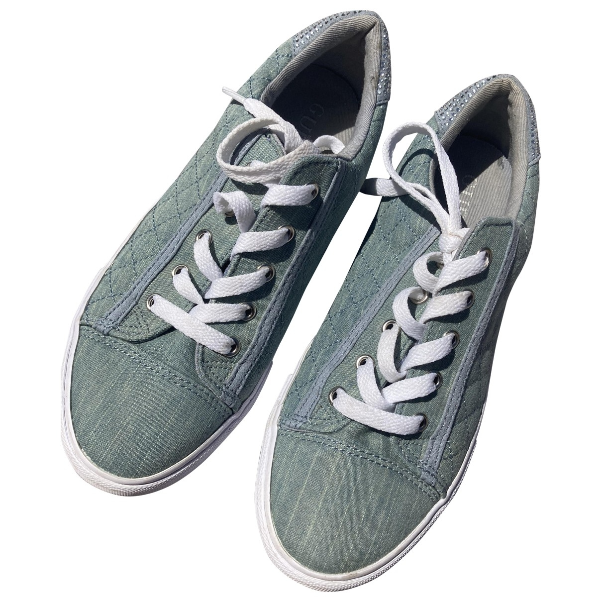 Guess \N Blue Cloth Trainers for Women 6 US