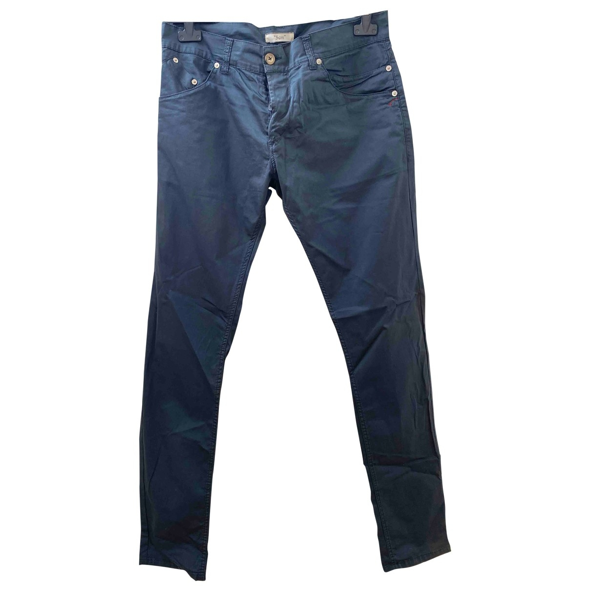 Dondup \N Blue Cotton Trousers for Men 48 IT