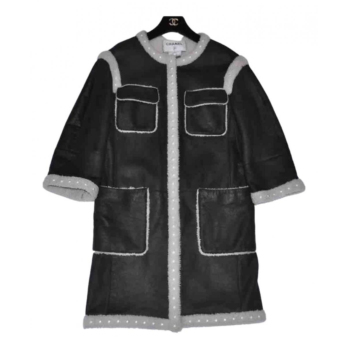 Chanel - Manteau   pour femme en mouton - noir