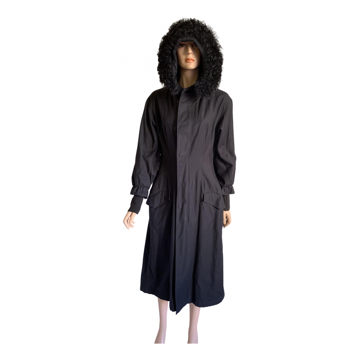 Y-3 By Yohji Yamamoto N Black Cotton coat for Women S International