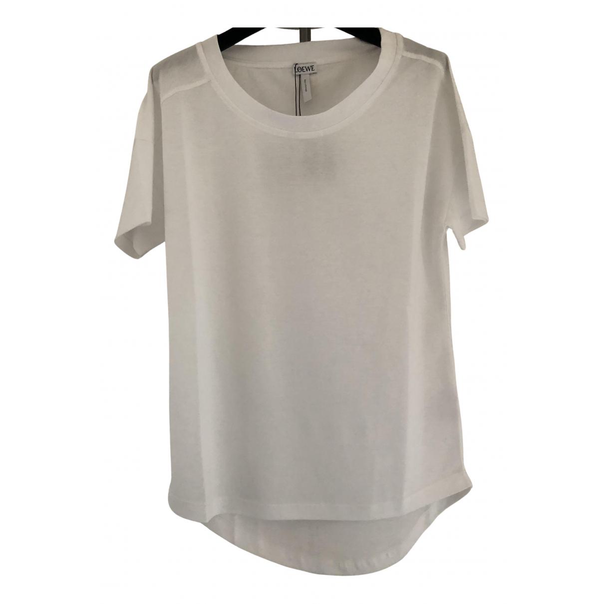 Loewe - Top   pour femme en coton - blanc