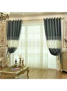 Luxury Classical Grommet Top Living Room and Bedroom Sheer Curtain