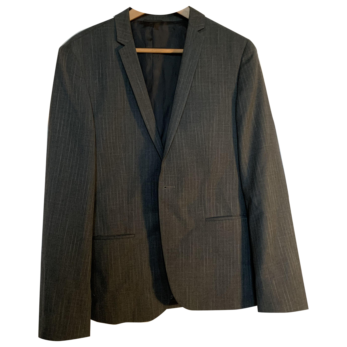 Calvin Klein - Costumes   pour homme en coton - anthracite