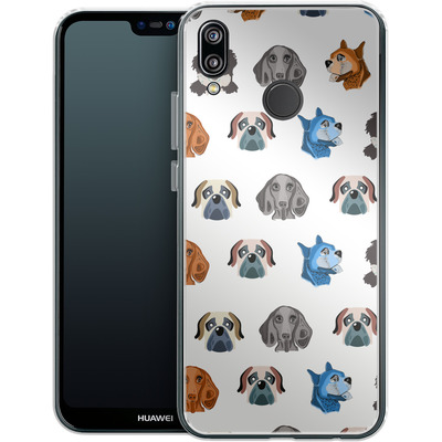 Huawei P20 Lite Silikon Handyhuelle - Dog Love von Mukta Lata Barua