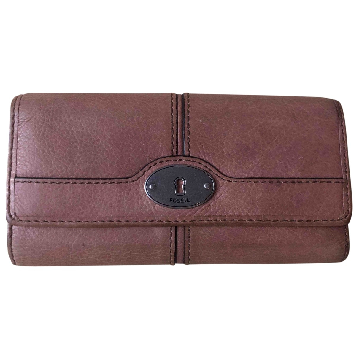 Fossil \N Brown Leather wallet for Women \N
