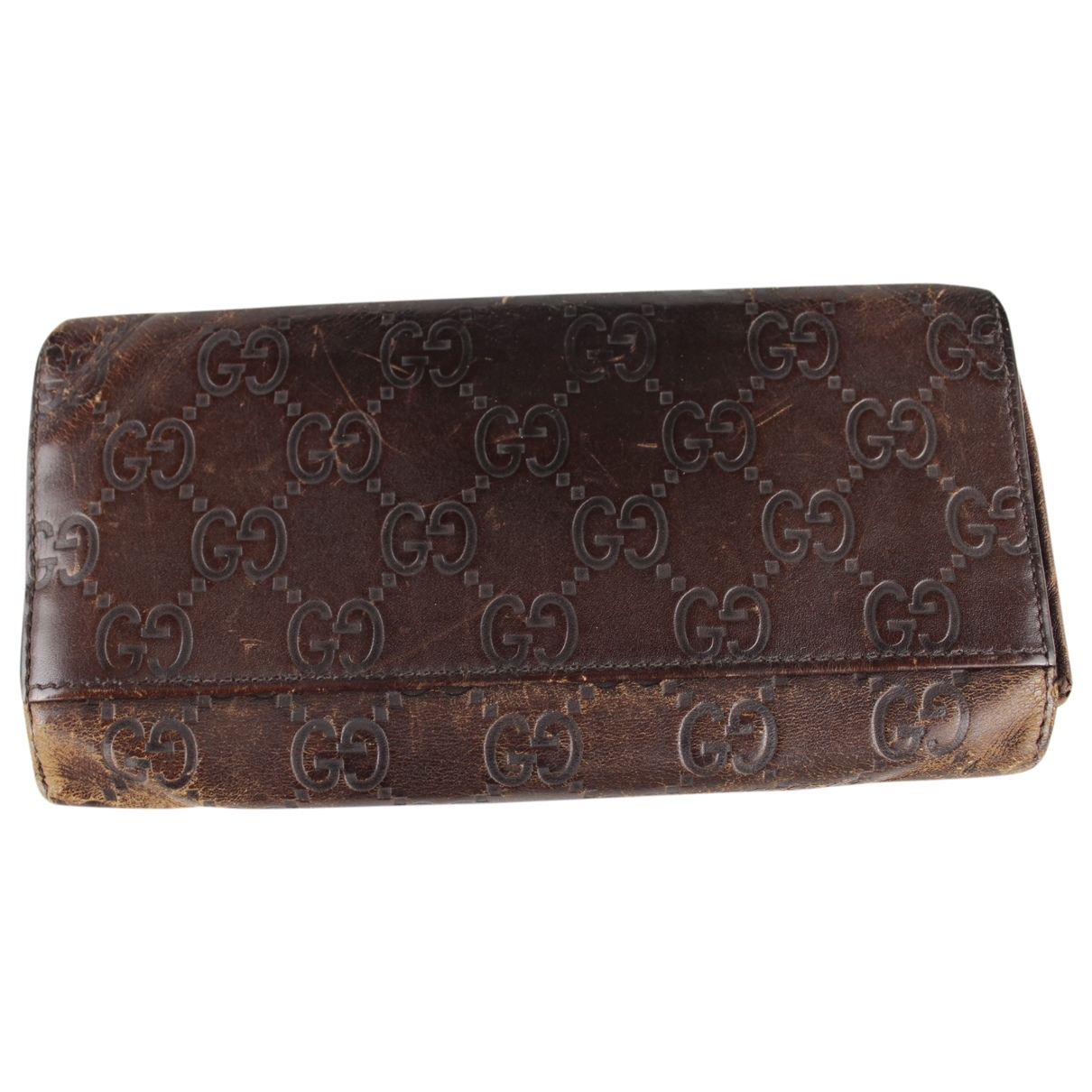 Gucci \N Brown Cloth Purses, wallet & cases for Women \N