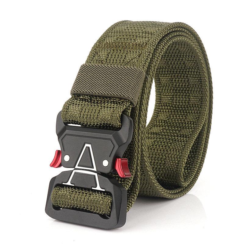 125cm Men 3.8cm Width Nylon Waist Belts Tactical Belt Quick Release Inserting Buckle