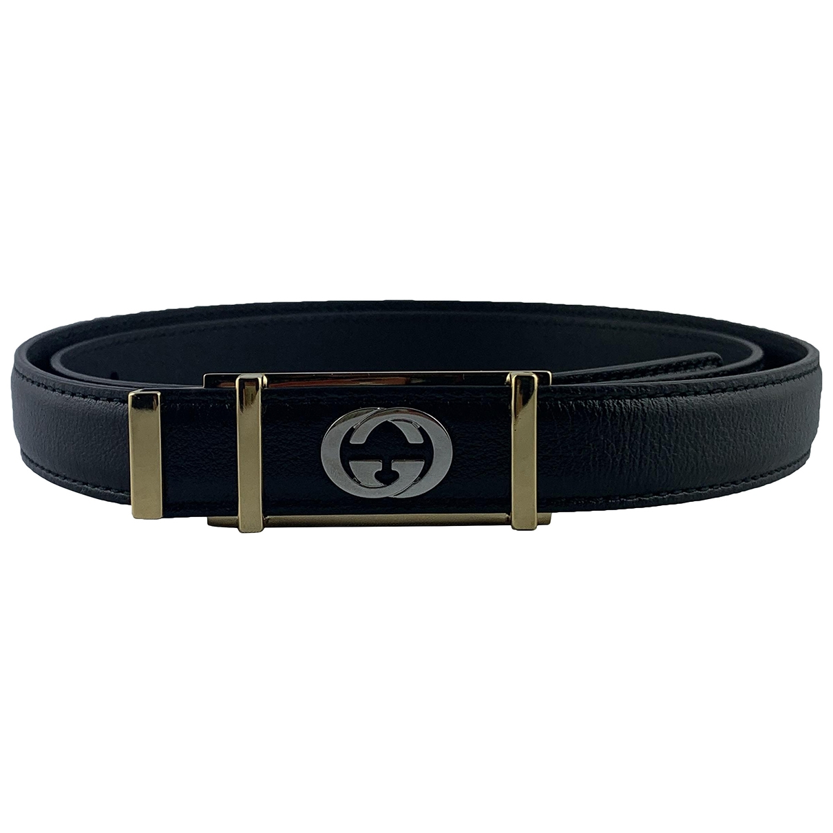 Gucci \N Black Leather belt for Men 90 cm