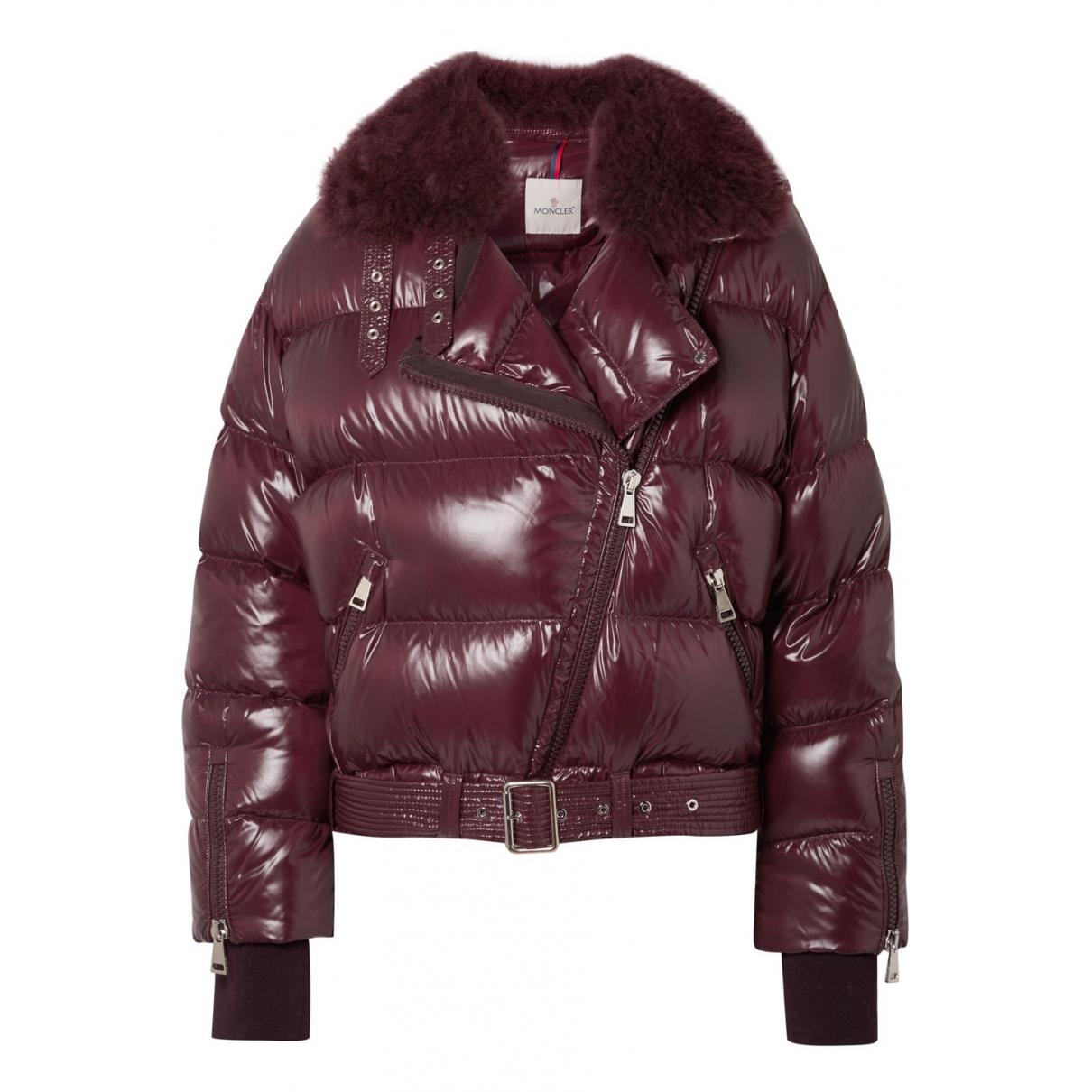 Moncler - Manteau   pour femme - bordeaux