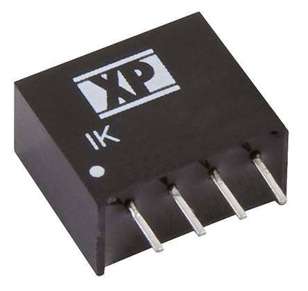 XP Power IK 0.25W Isolated DC-DC Converter Through Hole, Voltage in 10.8 → 13.2 V dc, Voltage out 15V dc