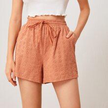 Shorts mit Kordelzug um die Taille