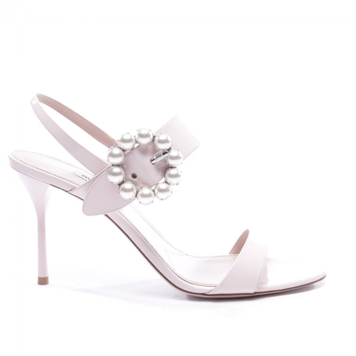 Miu Miu \N Pink Patent leather Sandals for Women 40 EU